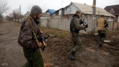 انفجارات وقصف مدفعي في دونيتسك بشرق أوكرانيا