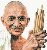 تكريم غاندي بجائزة العنقاء الذهبية الدولية للتسامح