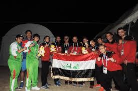 خمسة اوسمة حصيلة»العراق» في دورة الألعاب الآسيوية الشاطئية