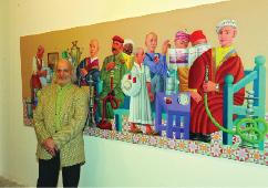 فيصل لعيبي يبيع لوحات معرضه قبل افتتاحه