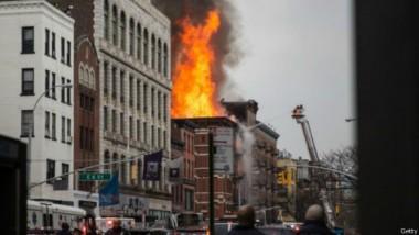 انهيار مبنيين جراء تسرب غاز في نيويورك