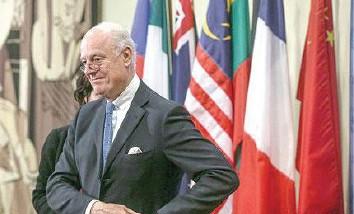المعارضة السورية ترفض خطة الموفد الدولي دي مستورا