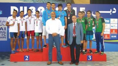 اثنا عشر وساماً للعراق في ختام بطولة العرب بالسباحة