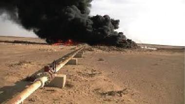 داعش يحرق 3 آبار نفط ويلغم كنائس في نينوى