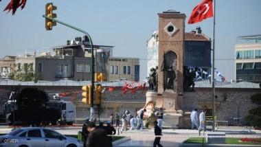 """الشرطة التركية تفرق التظاهرات وتعتقل ناشطين اقتحموا ميدان """"تقسيم"""""""