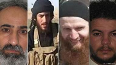 """أميركا ترصد 20 مليون دولار لمعلومات عن 4 قيادات في """"داعش"""""""