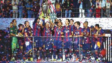برشلونة بطلاً لأوروبا بثلاثية تاريخية في يوفنتوس