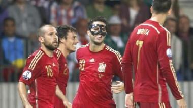 إسبانيا تهزم روسيا البيضاء في مئوية ديل بوسكي