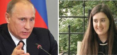 بوتين يمنح ميدالية ذهبية لطالبة كردية