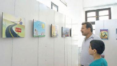 معرض فن الكاريكاتير في أسبوع النزاهة الوطني