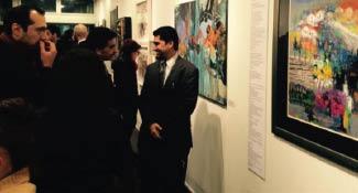 قصائد من العراق تتحول إلى لوحات في واشنطن