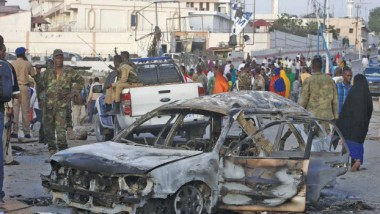 تفجير سيارتين مفخختين  ومقتل 14 شخصا في الصومال