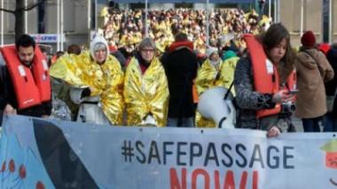 ثلاثة آلاف شخص يشاركون في مسيرة مؤيدة للمهاجرين في بروكسل