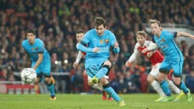 ميسي يمهّد طريق التأهل لبرشلونة بإسقاط أرسنال في دوري الأبطال