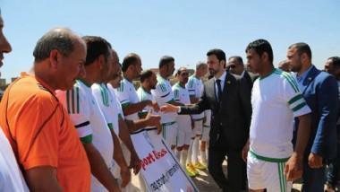 الرياضيون يحيون اليوم العالمي في ملعب ناحية الأسكندرية
