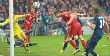 أتلتيكو مدريد يخسر أمام بايرن ميونيخ ويبلغ نهائي دوري الأبطال