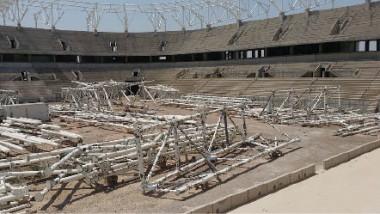 رياضيو مدينة الصدر ينظّمون وقفةً احتجاجيةً للمطالبة باستكمال ملعب فئة 30 ألف متفرج