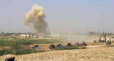 """استئناف العمليات العسكرية شمال صلاح الدين وتدمير عدة مواقع لـ""""داعش"""" في الشرقاط"""