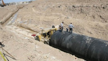 تنفيذ الخط الاستراتيجي للصرف الصحي بطريقة الحفر المخفي
