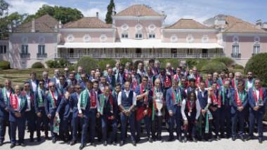 استقبال أسطوري للمنتخب البرتغالي بطل يورو 2016
