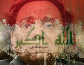 عادل إمام يتوشّح بالعلم العراقي.. ومدوّنون: مواقفه مُشرّفة