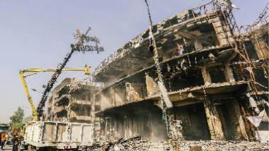 أمينة بغداد تبحث مع الجهات المتخصصة إعادة تأهيل مباني الكرادة