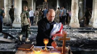 أول قداس في مدينة الكنائس العشر بعد تحريرها من داعش