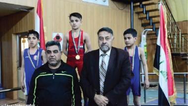 المركز الوطني» يحرز كأس أندية بغداد للبراعم بالمصارعة