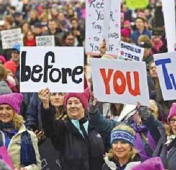نحو مليون متظاهر ضد ترامب في الولايات المتحدة