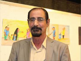 معرض فني  لرسام الكاريكاتير جواد السعد يجسّد الحرب ضد الإرهاب