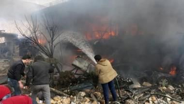 عشرات القتلى في انفجار شاحنة وقود بمدينة أعزاز السورية