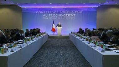 انطلاق أعمال مؤتمر باريس للسلام في  الشرق الأوسط بين الفلسطينيين وإسرائيل