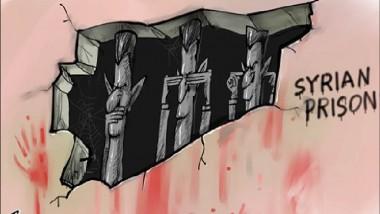 السجون السورية عن موقع «كاريكاتير سياسي»