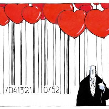 الفلانتاين دي (عيد الحب) عن موقع «كاريكاتير سياسي»