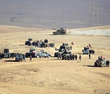 القوّات المشتركة تتقدم لتحرير مطار الموصل ومعسكر الغزلاني