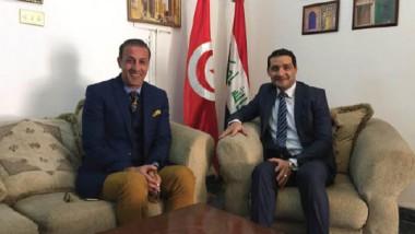 العراق وتونس يبحثان تطوير التعاون الكروي