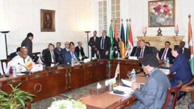 وزراء خارجية مصر وتونس والجزائر  يستعرضون نتائج اجتماعهم حول ليبيا