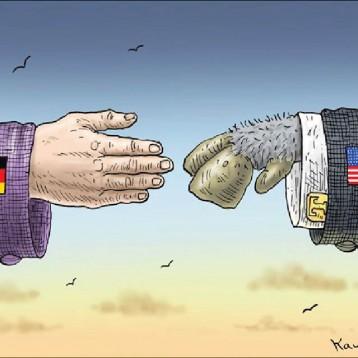 المصافحة الكبرى عن موقع «كارتون سياسي»