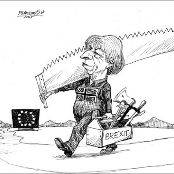 خروج بريطانيا من الاتحاد الأوروبي عن موقع «كارتون سياسي»