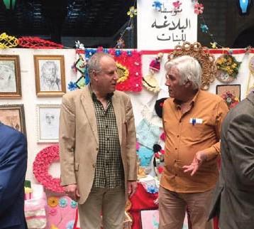 افتتاح كرنفال تربوي ضمّ رسومات وصناعات يدوية