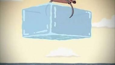 مسلسل كرتوني يسعف المناخ بمكعبات ثلج عملاقة