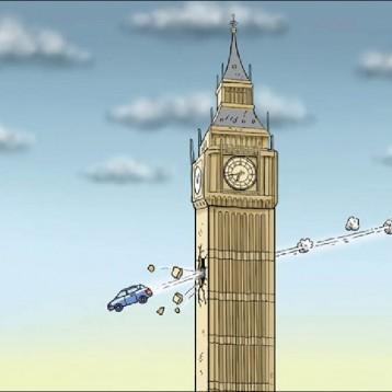 هجوم لندن عن موقع «كارتون سياسي»