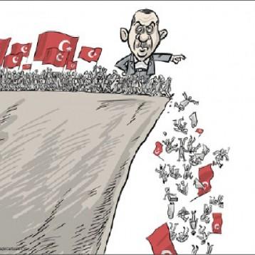 أردوغان ربان السفينة عن موقع «كارتون سياسي»