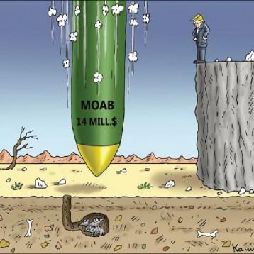 أم القنابل عن موقع «كارتون سياسي»