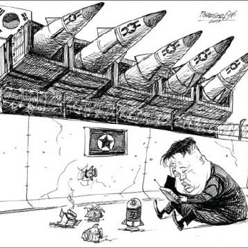 استعدادات رئيس كوريا الشمالية للحرب عن موقع «كارتون سياسي»