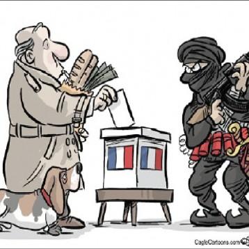 الانتخابات الرئاسية الفرنسية عن موقع «كارتون سياسي»