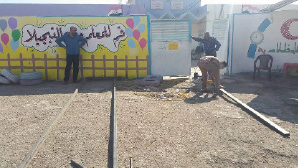 مدير مدرسة الحلة يرمم مدرسته على حسابه الخاص