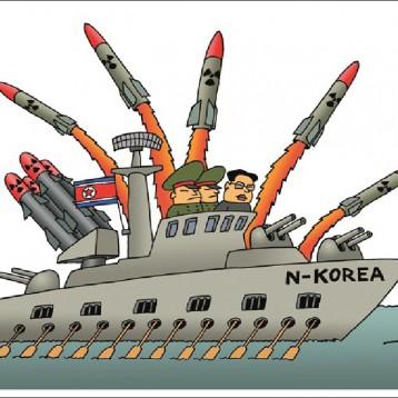 صواريخ كوريا الشمالية  عن موقع «كارتون سياسي»