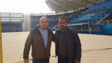 كرار علي صابر في طريقه  لتدريب «شاطئية أذربيجان»