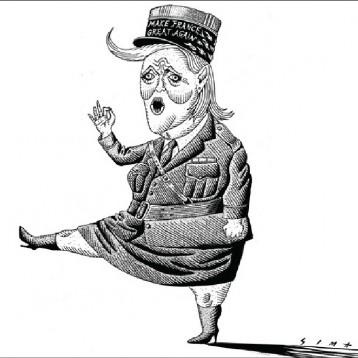 مارين لوبان عن موقع «كارتون سياسي»